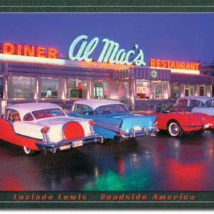 Plaque publicitaire américaine métal L.Lewis - Al Mac Diner