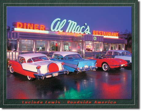 Plaque publicitaire américaine métal L.Lewis – Al Mac Diner