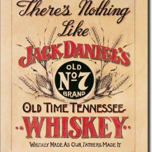 Plaque publicitaire américaine métal Jack Daniel's - Nothing Like