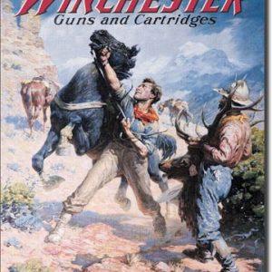 Plaque publicitaire américaine métal Winchester Spooked Horse