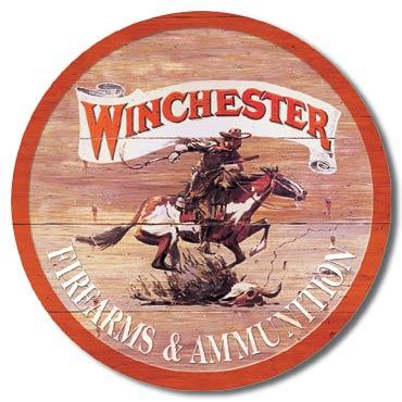 Plaque publicitaire américaine métal Winchester Express