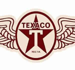 Plaque metal embossee Texaco Wings