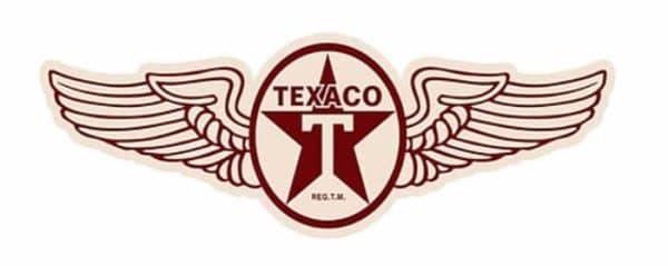 Plaque murale embossée Texaco «Wings»
