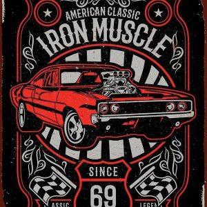 Plaque publicitaire de décoration murale 5859