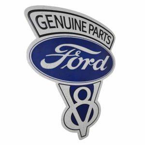 Plaque publicitaire embossee FordV8