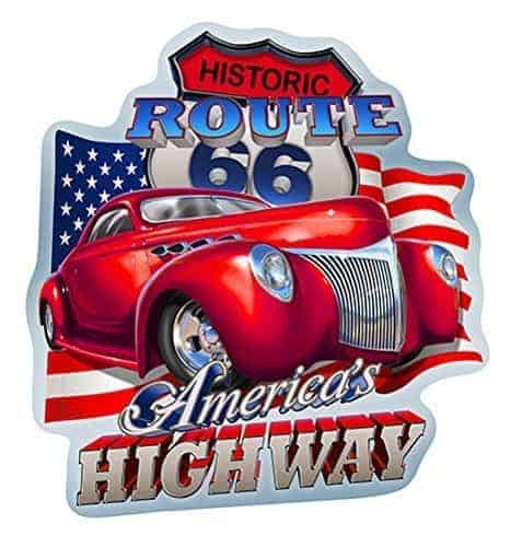 Plaque murale embossée Route 66 America's Highway