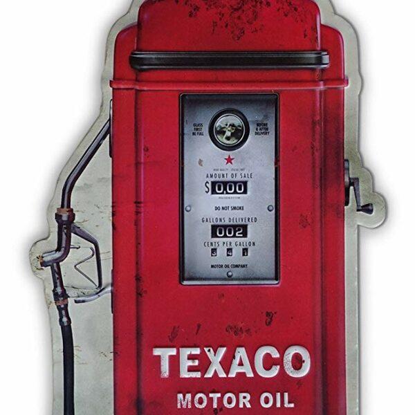 Plaque publicitaire embossee Texaco