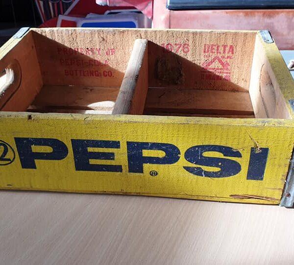 Caisse en bois de transport de bouteilles de Pepsi-Cola 32