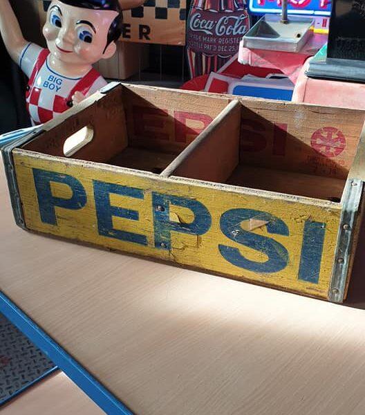 Caisse en bois de transport de bouteilles de Pepsi-Cola Y