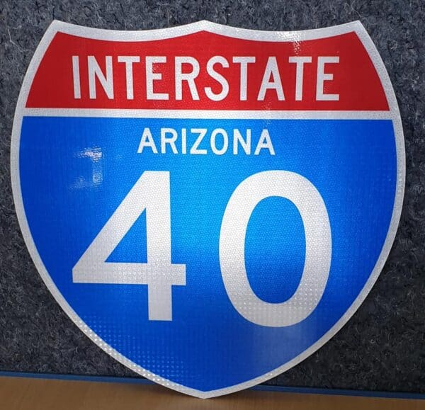 Panneau Interstate Highway ARIZONA 40