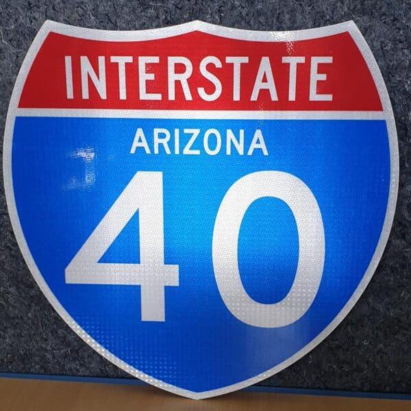 Panneau routier américain Interstate Arizona 40