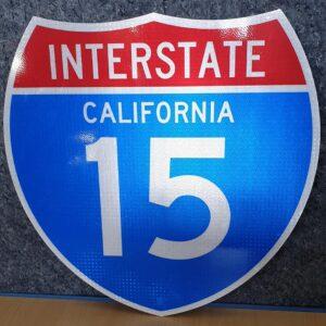 Panneau Interstate Highway CALIFORNIA 15