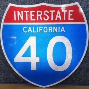 Panneau Interstate Highway CALIFORNIA 40