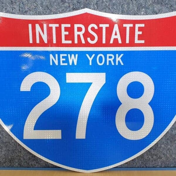 Panneau Interstate Highway NEW YORK 278