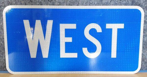 Panneau Interstate Highway WEST