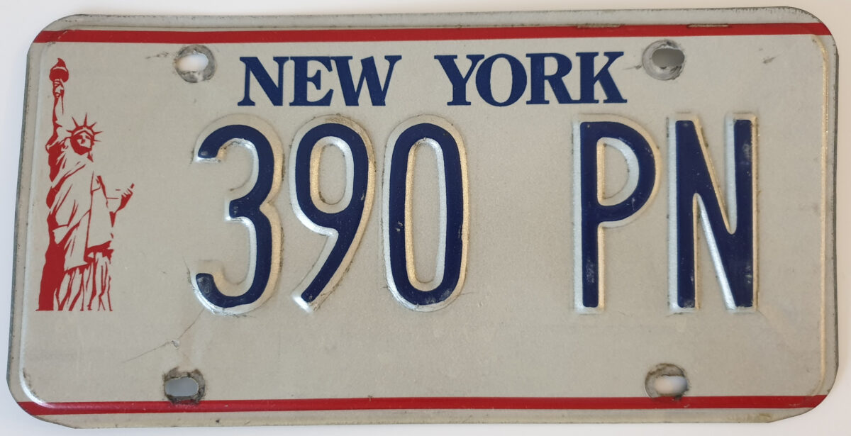 New York Miss Liberty Plaque immatriculation americaine