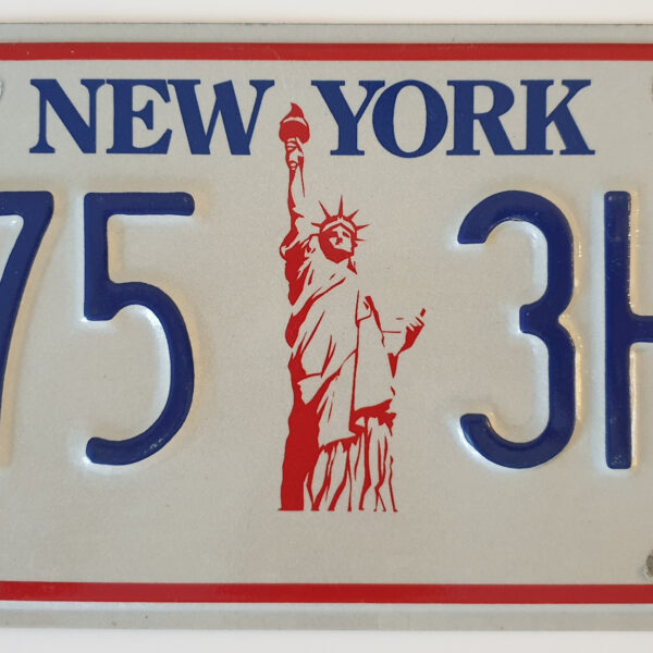 New York Miss Liberty Plaque immatriculation americaine