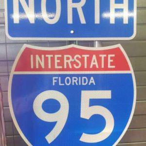 Panneau routier Highway Miami Floride 95 North