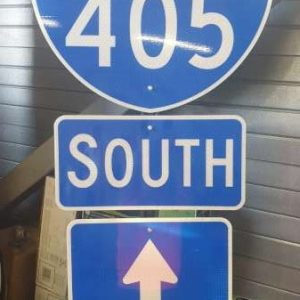 Panneau routier highway americaine 405 California South Way