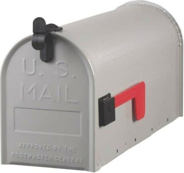Boîte aux Lettres Américaine Grise Galvanisée des rues et villes aux USA