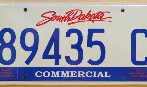 Plaque immatriculation americaine de l etat du Dakota du Sud