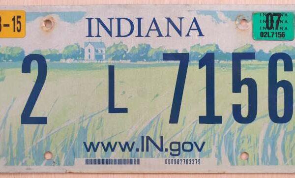 Plaque immatriculation americaine de l etat de l Indiana