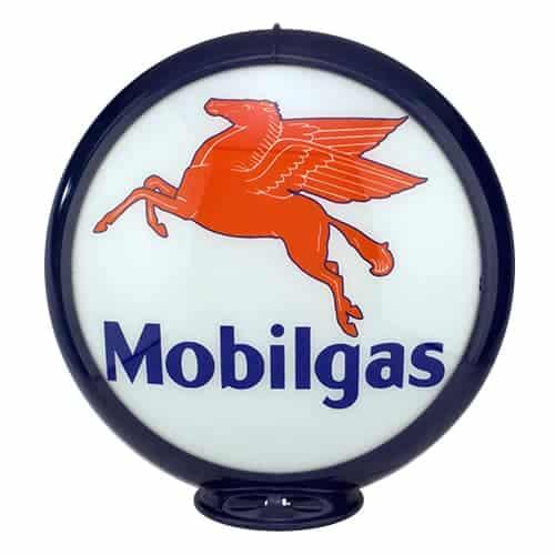 Mobilgas Globe publicitaire de pompe a essence