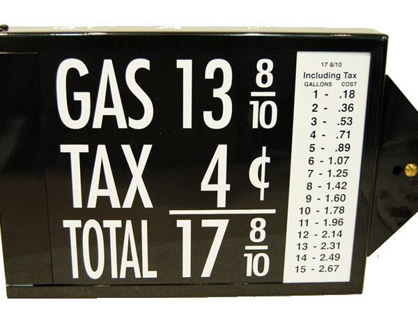 Panneau de prix pour pompe a essence a reservoir visible