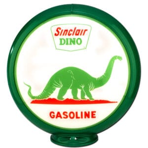 Dino Land Globe publicitaire de pompe a essence