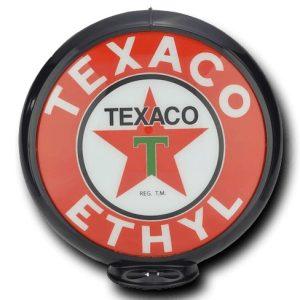 Texaco Ethyl Globe publicitaire de pompe a essence
