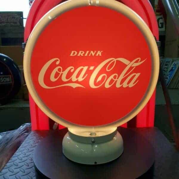Globe De Pompe A Essence Coca Cola