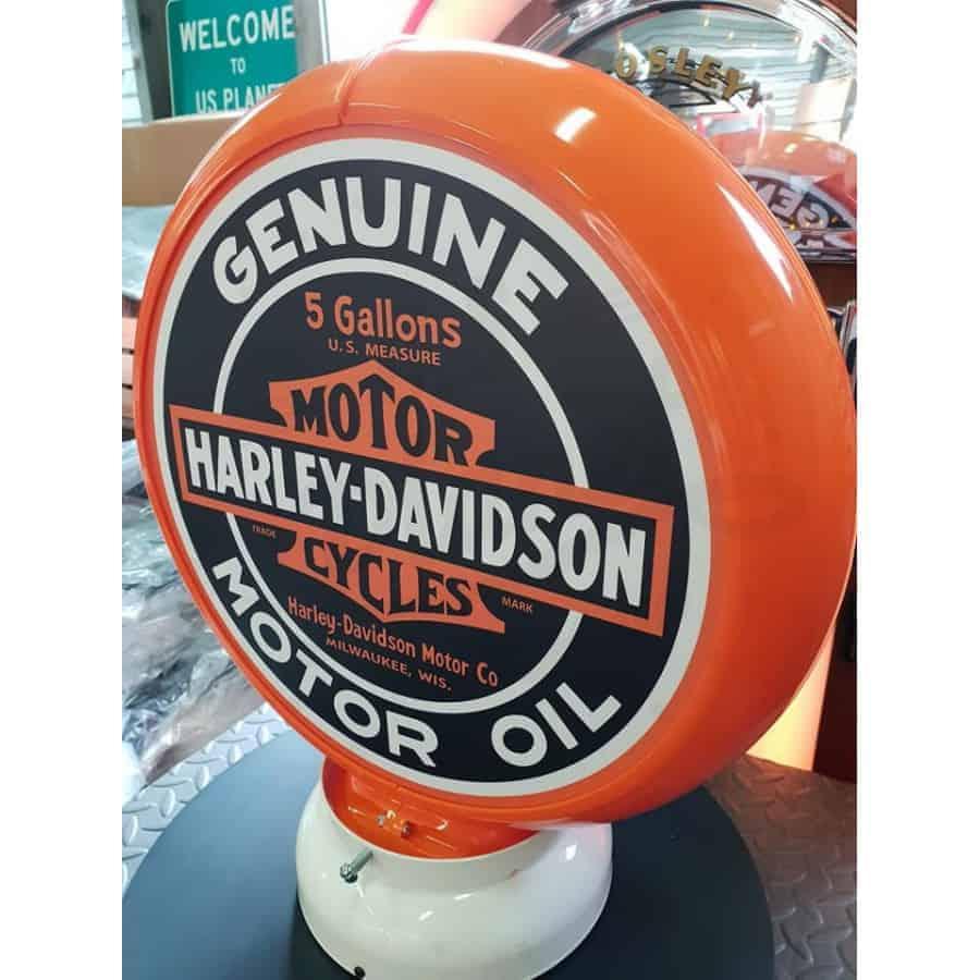 Globe De Pompe A Essence Harley Davidson Genuine Motor Oil 1