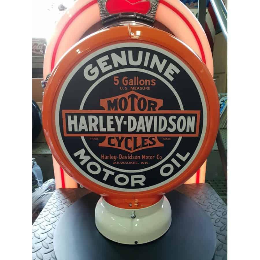 Globe De Pompe A Essence Harley Davidson Genuine Motor Oil 2