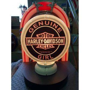 Globe De Pompe A Essence Harley Davidson Girl