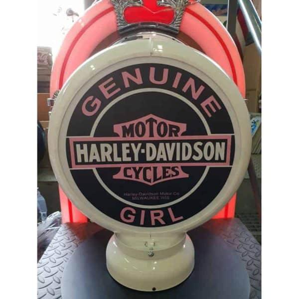 Globe De Pompe A Essence Harley Davidson Girl 1