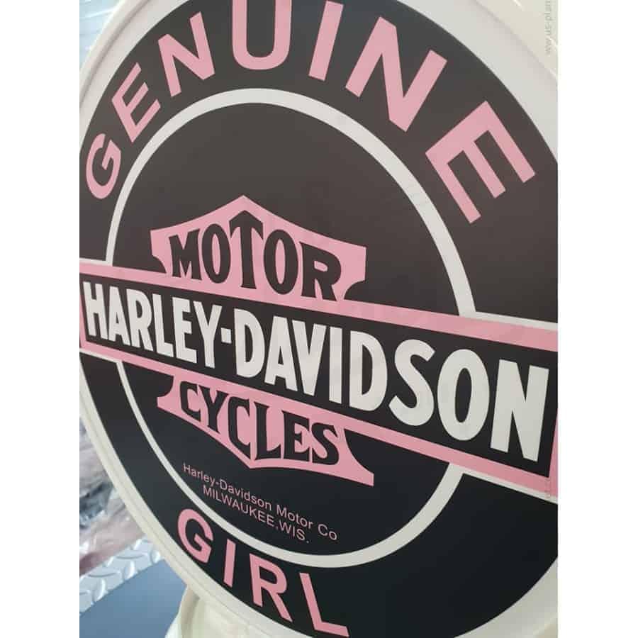 Globe De Pompe A Essence Harley Davidson Girl 2
