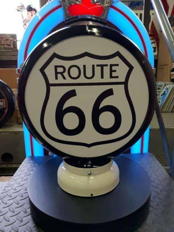 Globe De Pompe A Essence Route 66