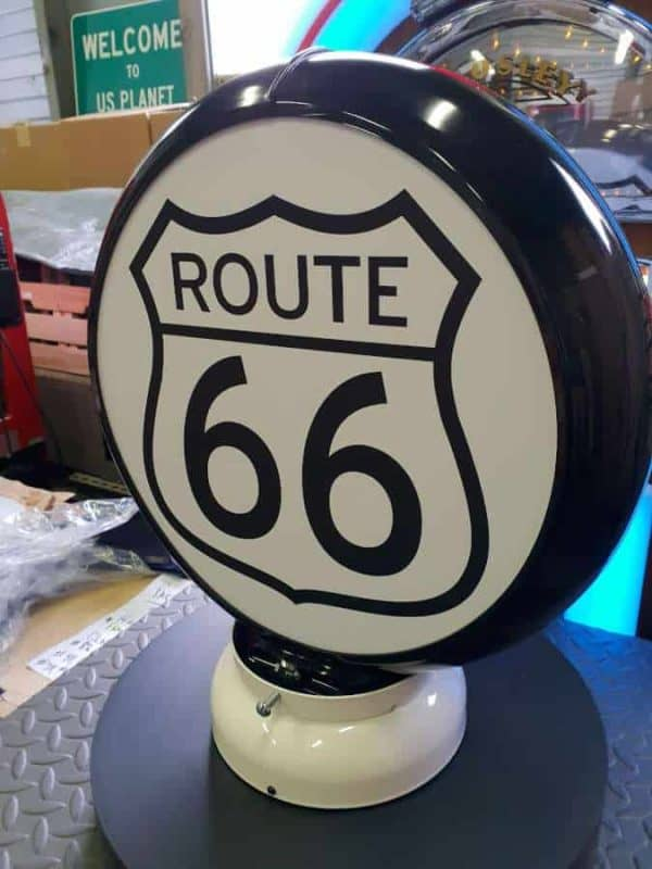 Globe De Pompe A Essence Route 66 1