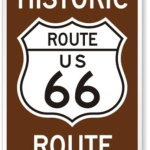 Historic Route 66 Panneau Routier De La Ville De Williams