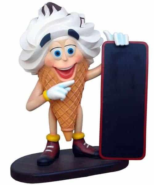 Ice Cream Boy Glace Taille 1m Pour Decor St 2854 Statue En Resine Et Fibre De Verre