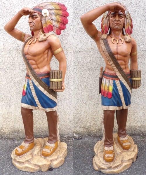 Statue Grandeur Nature Indien Guetteur