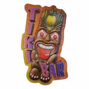 Tiki Bar Shaped Embossed Sign 191552