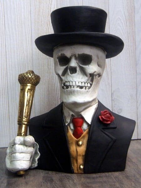 Buste de squelette avec chapeau haut de forme