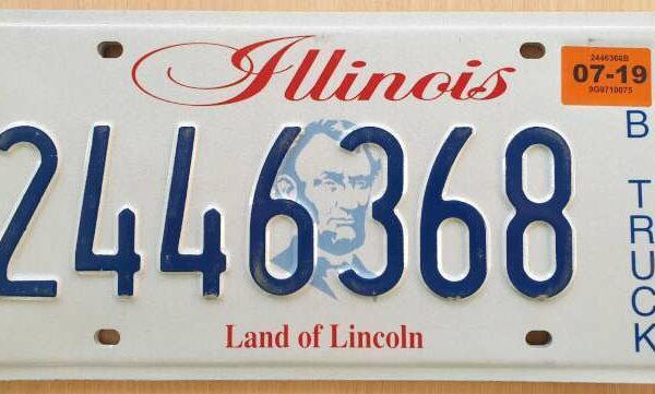 Plaque d'immatriculation américaine – ILLINOIS Land of Lincoln