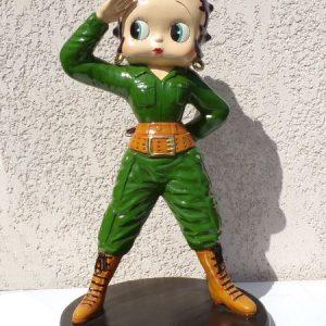 Betty Boop Soldat en uniforme militaire vert