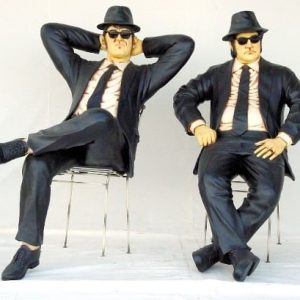 Blues Brothers Assis Chaises Statues Grandeur Naturest1525lot