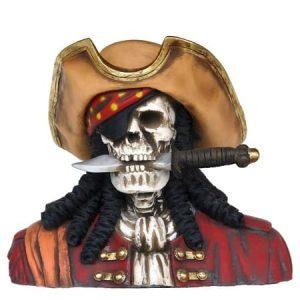 Buste Squelette Pirate Avec Couteau