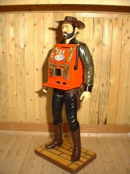 Cowboy Jackpot Machine A Sous Statue Su6957 1