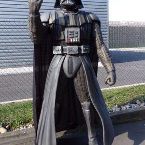 Réplique de Dark Vador - Darth Vader célèbre seigneur Sith et personnage célèbre du cinéma à Hollywood.