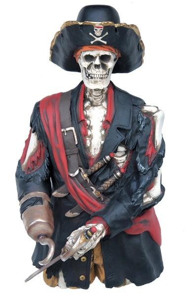 Demi Squelette Pirate à fixer au mur